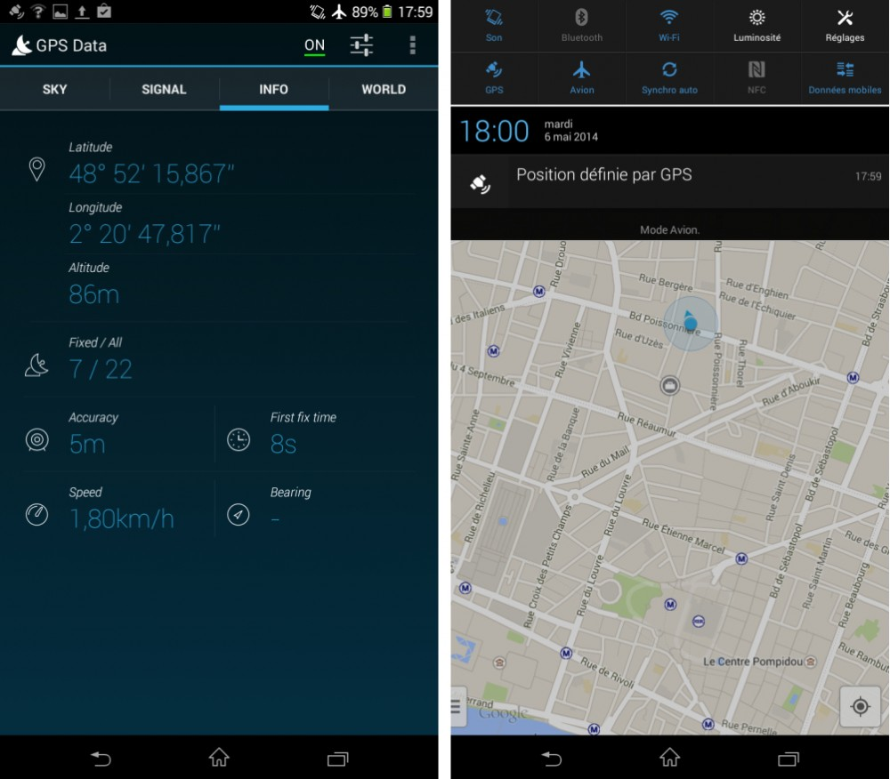 android test frandroid gps localisation synchronisation sony xperia t2 ultra dual image 08