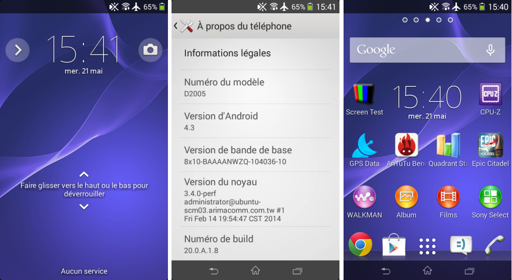 android test frandroid sony xperia e1 interface logicielle image 01