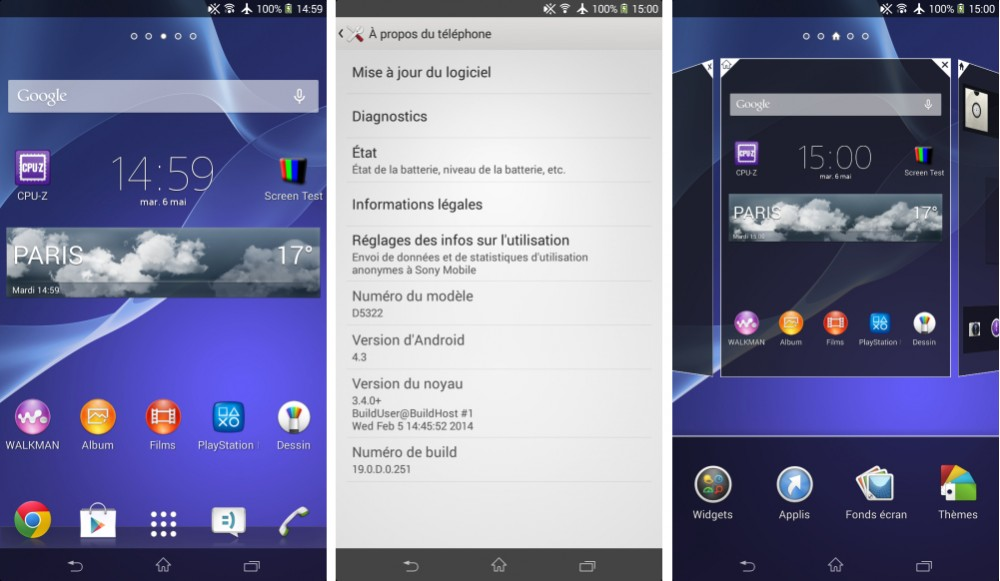 android test interface logicielle sony xperia t2 ultra dual images 01