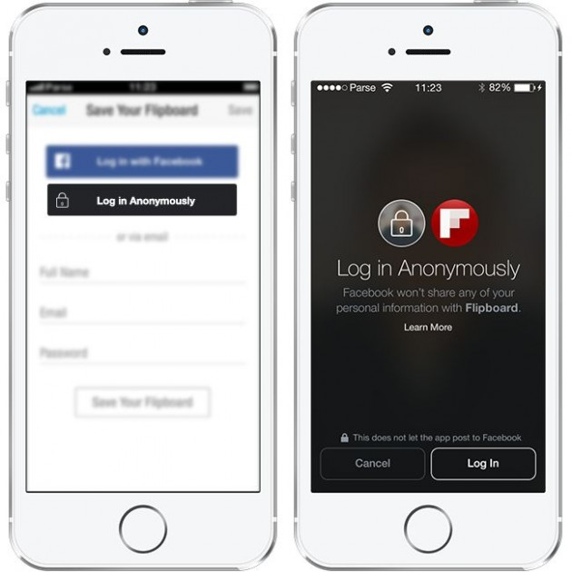 facebook login anonyme conference f8 2014