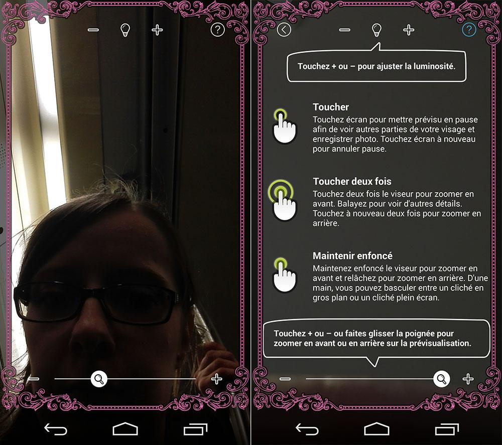Test du huawei ascend p7 un joli c ur arriv un peu tard for Miroir application android