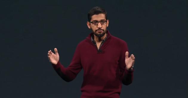 """""""On vous a envoyé une Google I/O à peu près de cette taille"""", Sundar Pichai."""