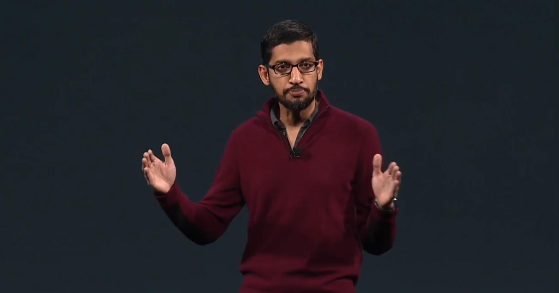 Sundar Pichai président de Google