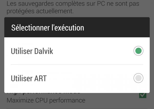 Dalvik ART