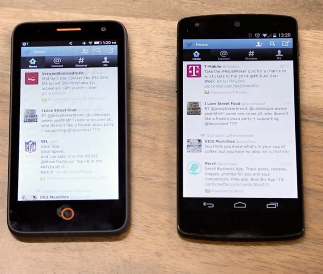 Firefox OS Android Twitter