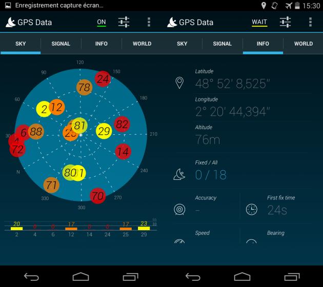 GPS Data Soshphone frandroid