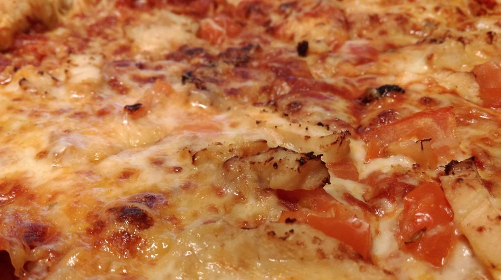 Pizza. Mise au point proche.