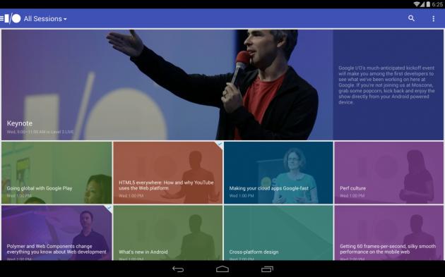 android app google i:o 2014 tablette image 01