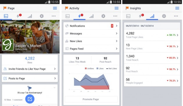 android gestionnaire de pages facebook pages manager 2.0 image 01