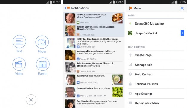 android gestionnaire de pages facebook pages manager 2.0 image 02