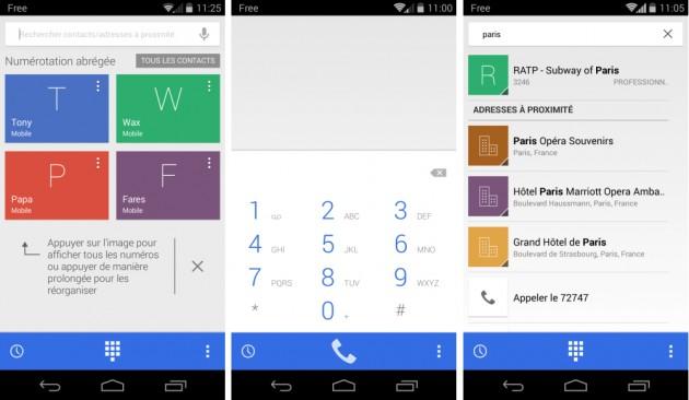 android google dialer 1.1 téléphone google image 01