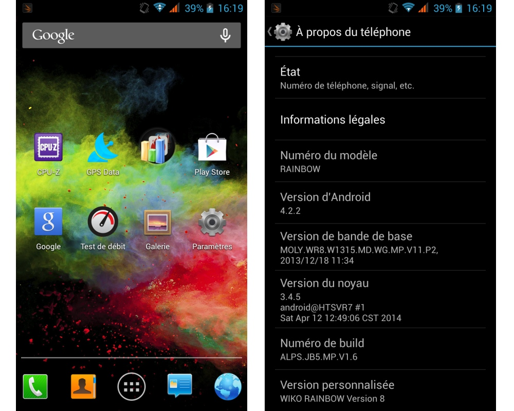 android test frandroid wiko rainbow interface logicielle image 01