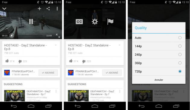 android youtube 5.7.36 gestion qualité vidéo image 02