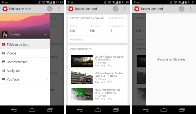 android youtube creator studio 1.0 image 01