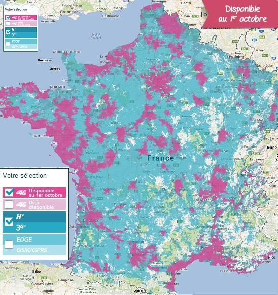 carte 4G bouygues octobre 2013