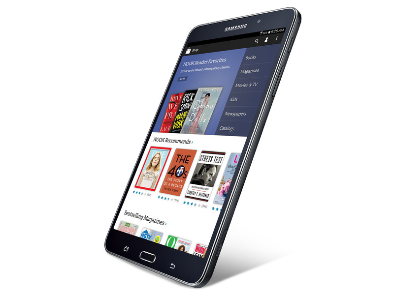 galaxy tab 4 nook la tablette liseuse con ue conjointement par samsung et barnes noble. Black Bedroom Furniture Sets. Home Design Ideas