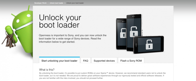 Bootloader Sony