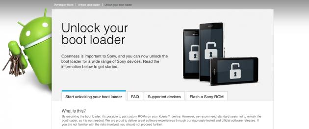 Bootloader Sony