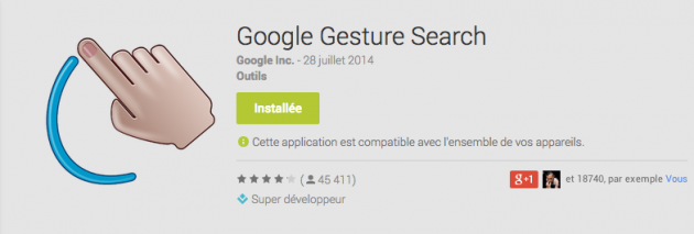 android google gesture search 2.1.4 image 00