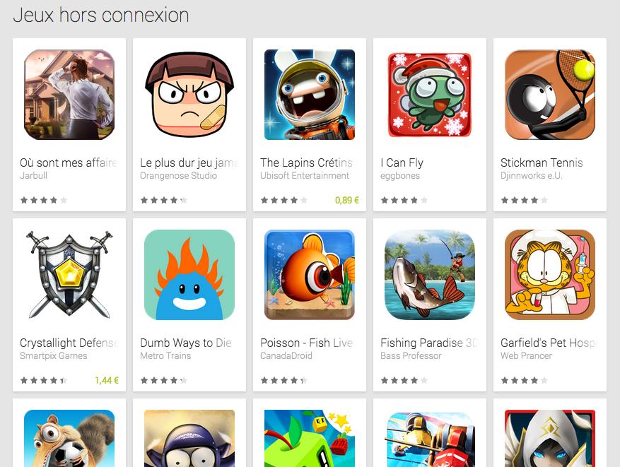 jeux gratuit sans wifi