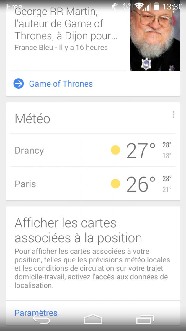 android recherche google now météo image 00
