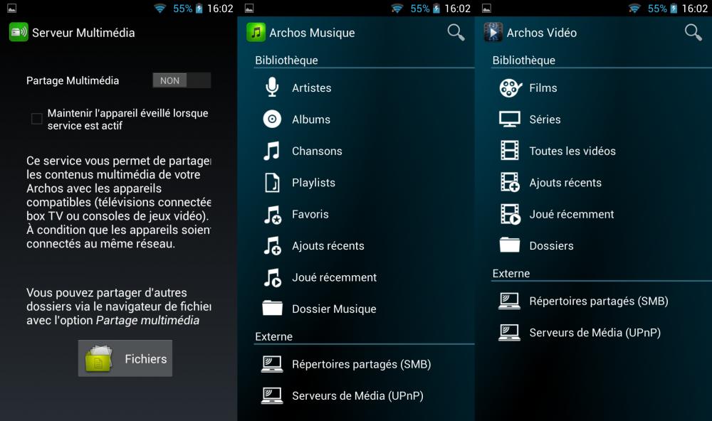 application archos archos 64 xenon