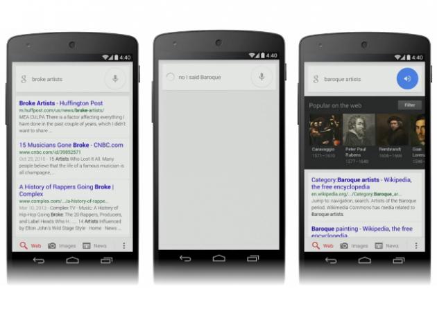 google now corriger