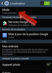comment activer localisation android
