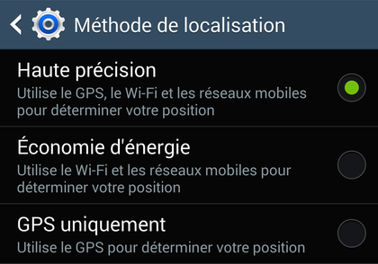 comment activer le coordonnees gps android