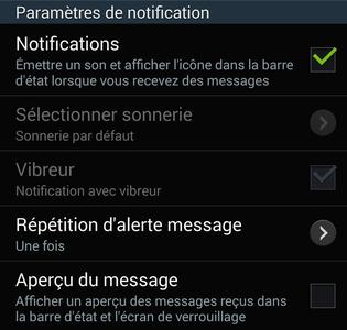 comment activer et modifier la notification d un sms mms sur android frandroid. Black Bedroom Furniture Sets. Home Design Ideas