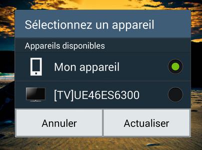 Connecter votre Note4 à un écran TV - Screen Mirroring