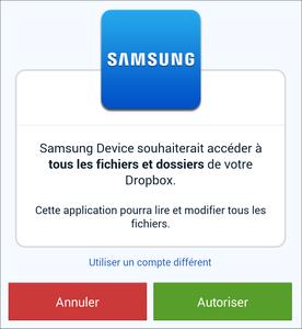 Comment synchroniser les photos Dropbox sur Samsung Galaxy
