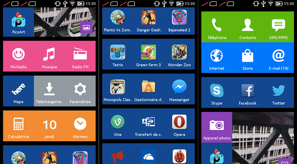 Interface Nokia XL