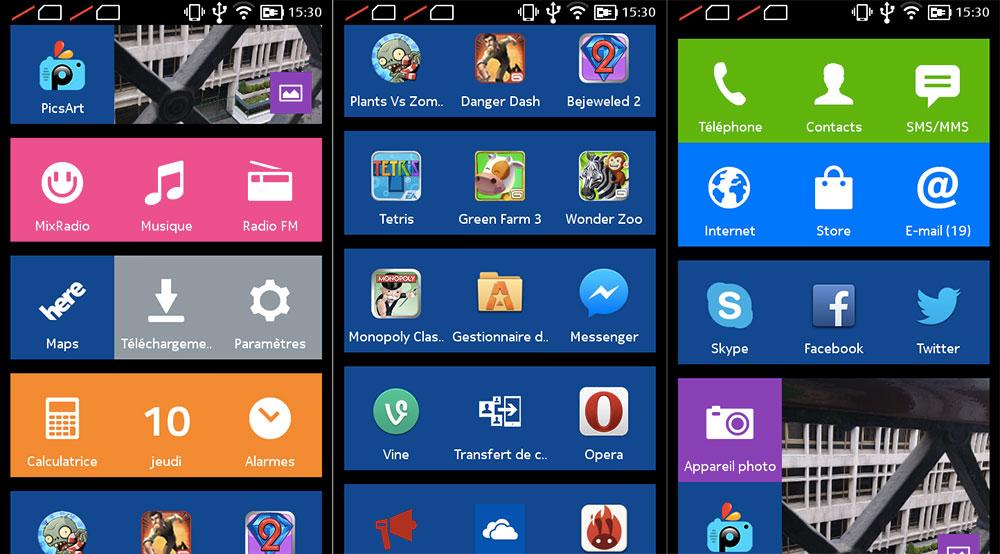 Interface Nokia XL