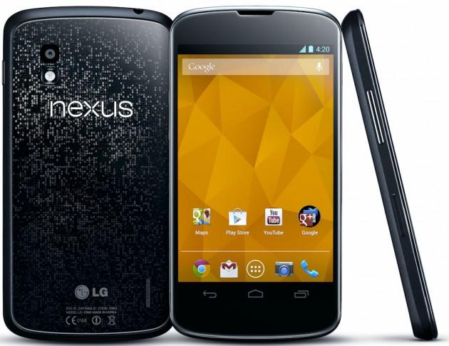Le Nexus 4, et son écran de 4 pouces
