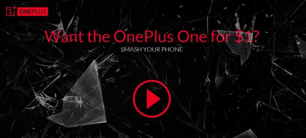 smash your phone oneplus one
