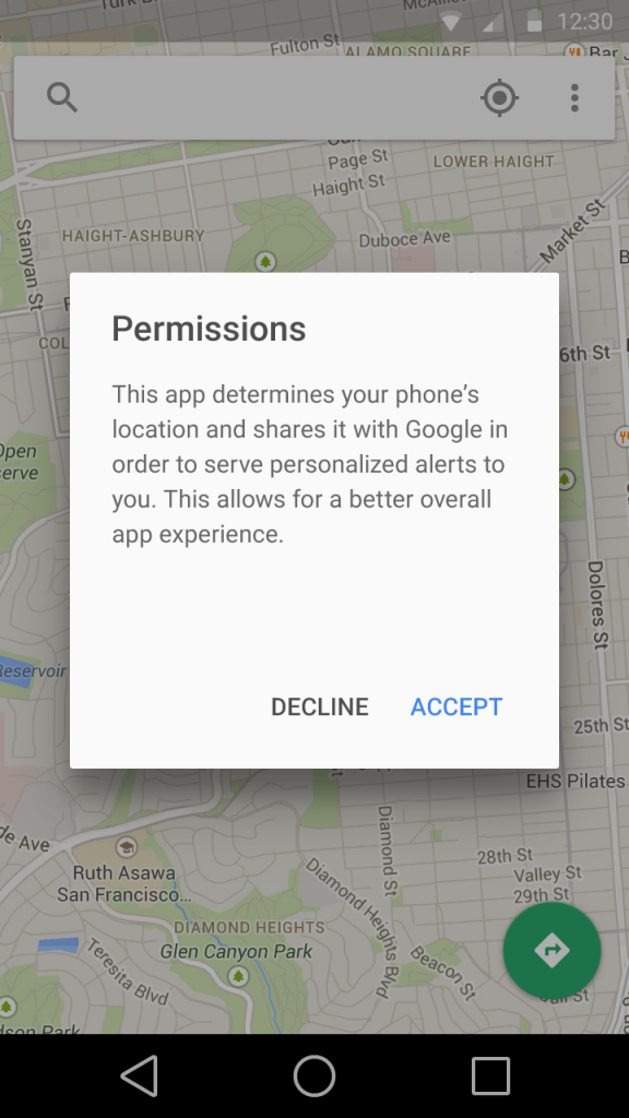 permission android L rumeur XDA