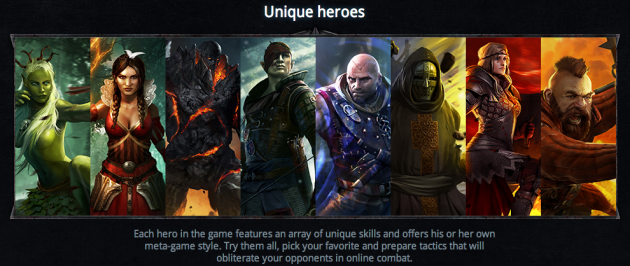 the witcher battle arena héros champions image 01
