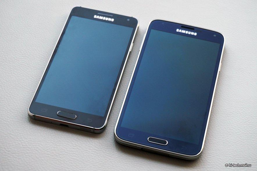 Galaxy Alpha vs Galaxy S5