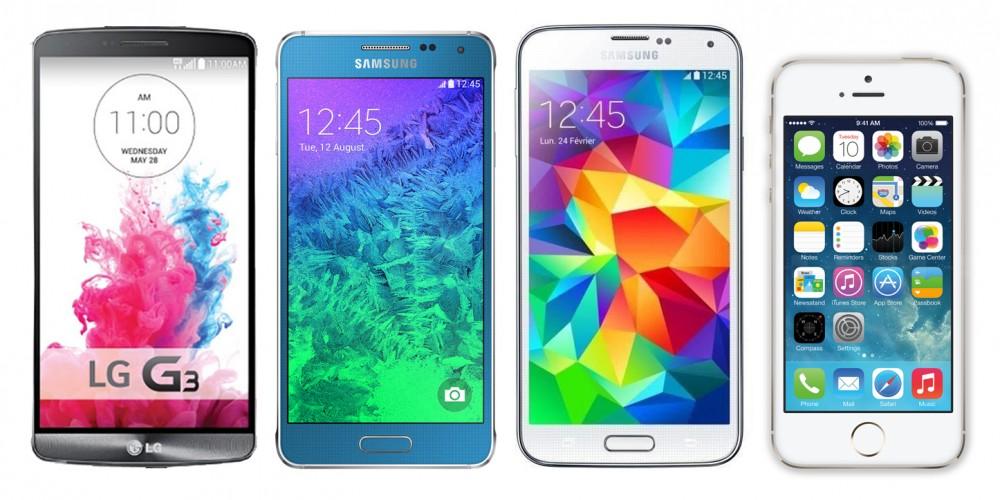 Comparatif-iPhone-5-Galaxy-Alpha-LG-G3-Galaxy-S5
