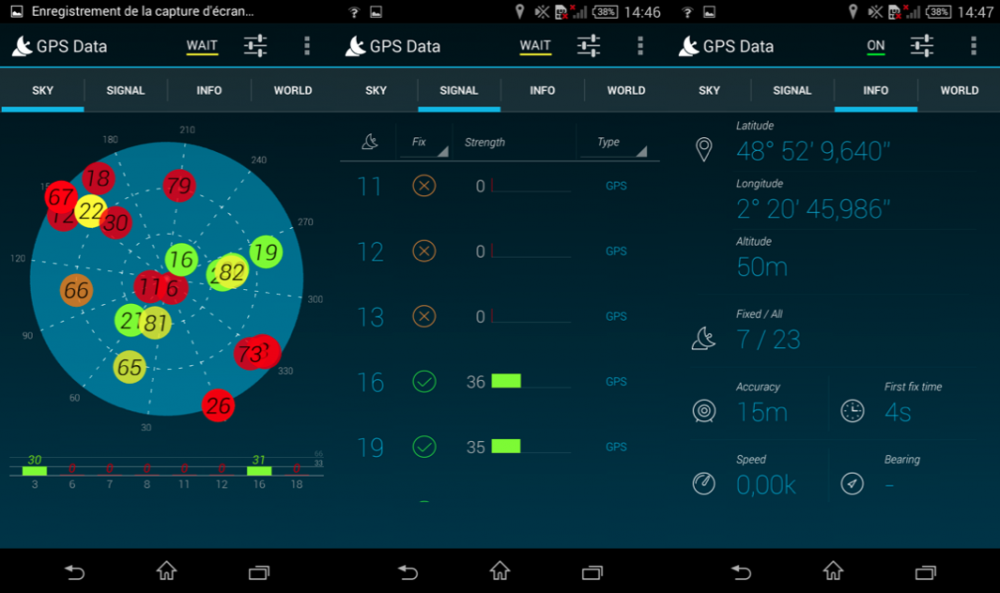 GPS Sony xperia T3