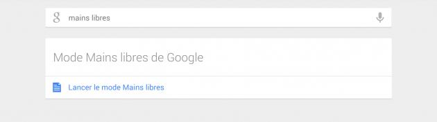 Mains libres Google