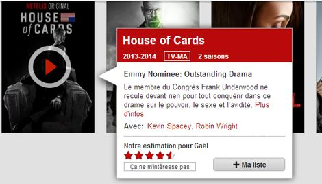 House of Cards, figure de proue aux USA... et grand absent en France.