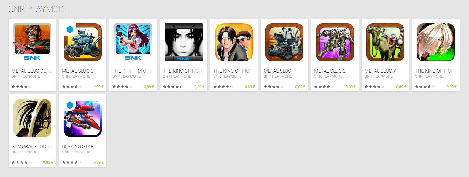 tous les jeux android