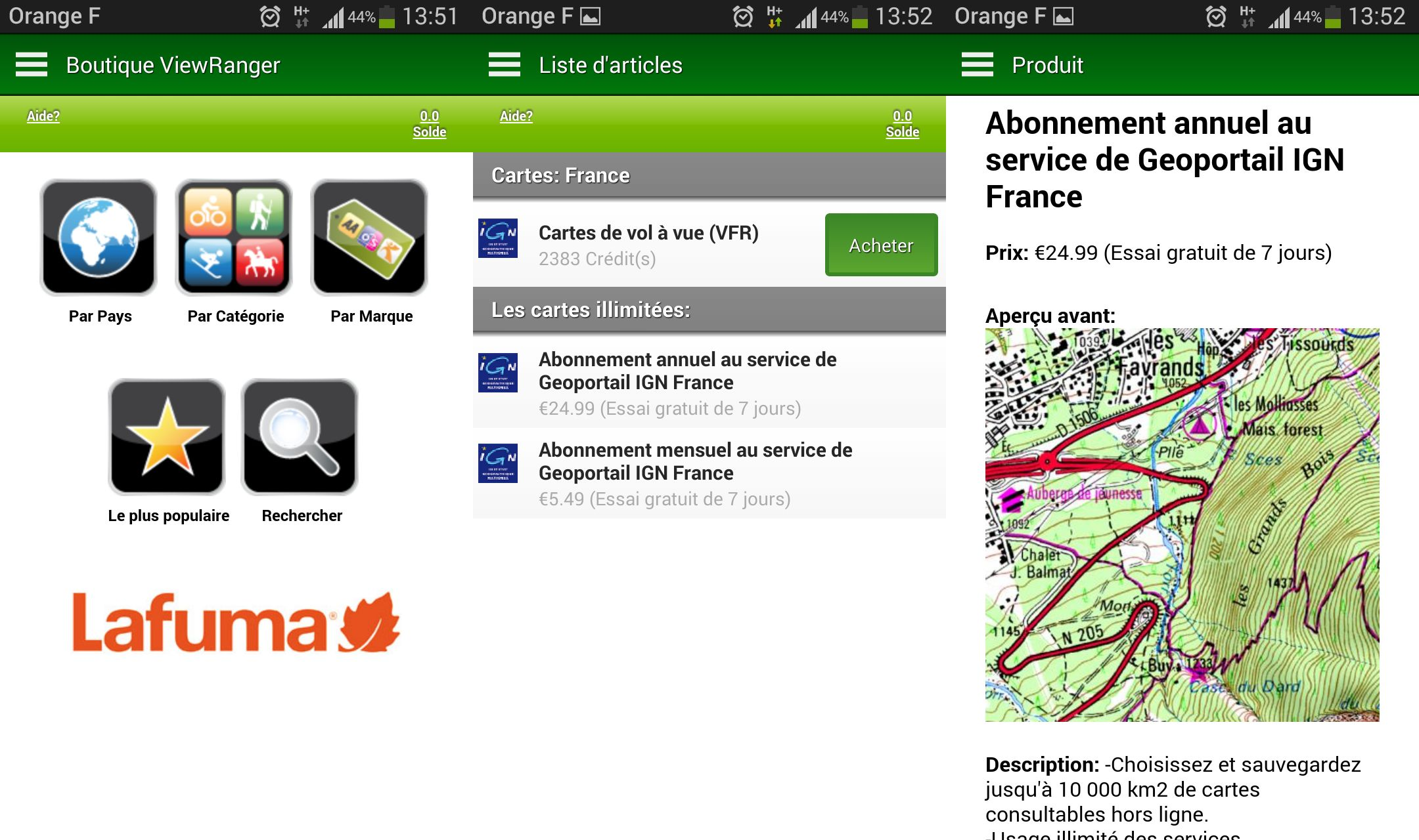 carte france pour gps android