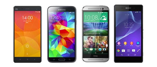 comparatif des smartphones haut de gamme