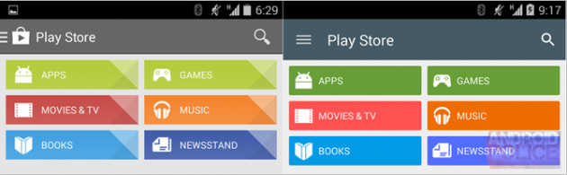 Play Store 5.0 Material Design