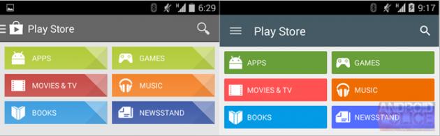 Play Store 5.0 Material Design