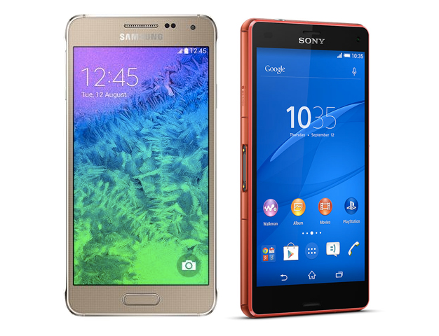 Samsung Galaxy Alpha vs Xperia Z3 Compact