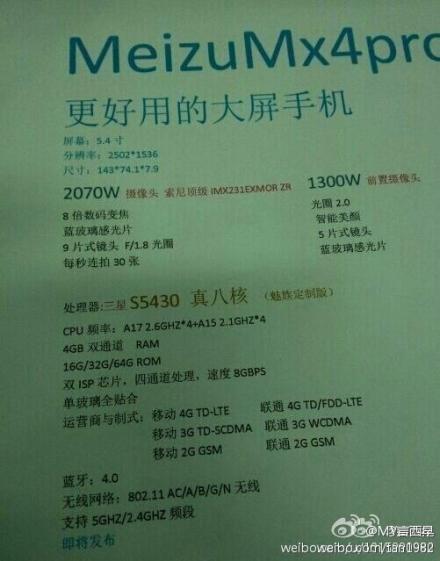 Voyage a Shenzhen Meizu-mx4-pro